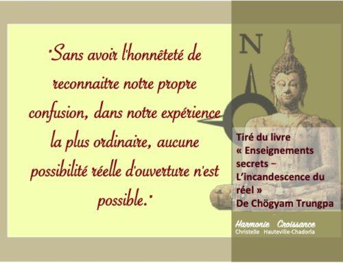 Chemin d'éveil, selon Chogyam Trungpa