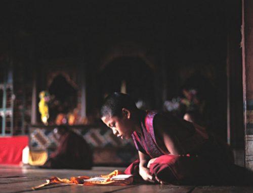 Le moine et son fils (allégorie sur la vérité)