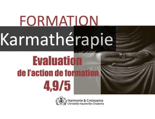 Evaluation formation karmathérapie