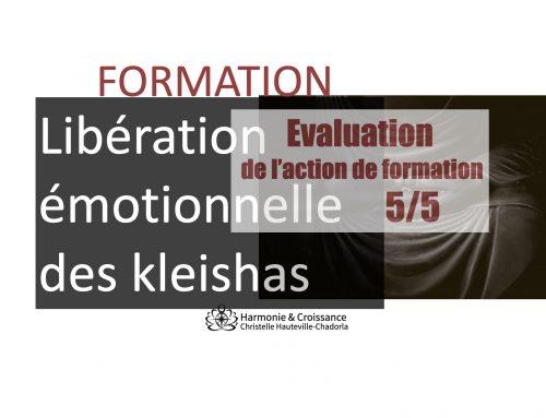 Evaluation formation Libération émotionnelle des kleishas